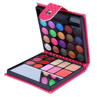 W01 Wallet cerise makeup set