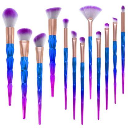 (Unicorn Colorful Pro) Set med 12 st. exklusiva smink / makeup borstar
