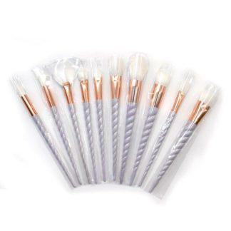 (Unicorn Pro) Set med 10 st. exklusiva smink / makeup borstar
