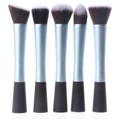 5 st. Blå Make-up / sminkborstar av bästa kvalité