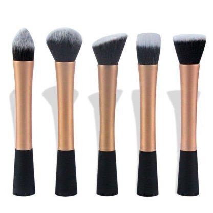 5 st. Guld Make-up / sminkborstar av bästa kvalité