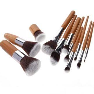 (Pro bamboo) Set med 11 st. populära bambu sminkborstar