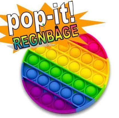 2-pack Pop It Fidget Toy Original - Regnbåge - CE Godkända