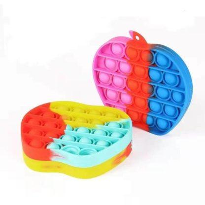 Pop It Fidget Toy Original - Rainbow Apple - CE Godkänd