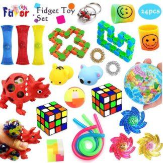 Favor Toys 24st. Fidget Toys Set för barn och vuxna