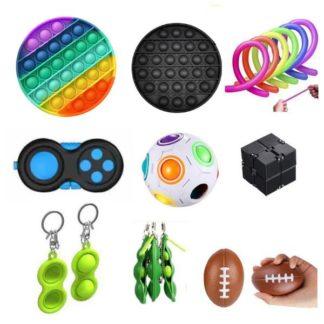 PRO set - 17 st. Fidget Toys Set för barn och vuxna