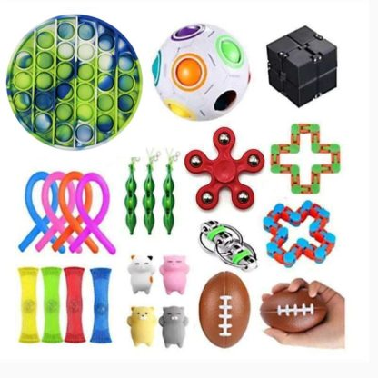 24st Fidget Pop it Toys Set pack för barn och vuxna