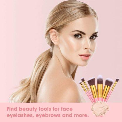 BS05 - BS-MALL 14 st. exklusiva Make-up / sminkborstar av Bästa Kvalité