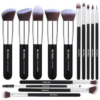 BS07 - BS-MALL 14 st. exklusiva Make-up / sminkborstar av Bästa Kvalité
