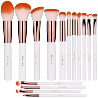 BS10 - BS-MALL 15 st. exklusiva Make-up / sminkborstar av Bästa Kvalité