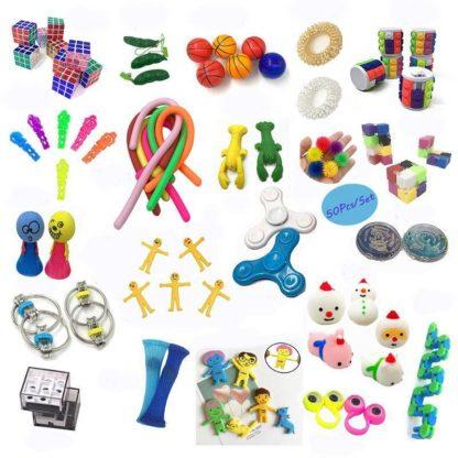 50st Fidget Pop it Toys Set pack för barn och vuxna