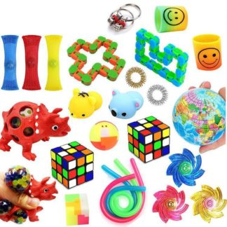 Favor 74st Fidget Set Pack för barn Pop it Stress ball