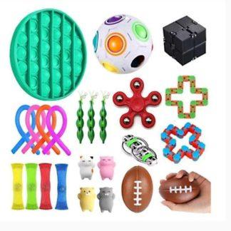 PRO 24st Fidget Pop it Toys Set pack för barn och vuxna