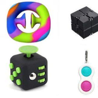 PRO set - 4 pack Fidget Toys Set för barn och vuxna NYHET
