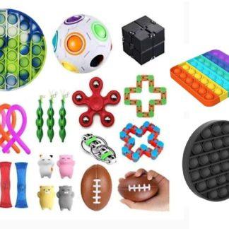 26st Fidget Pop it Toys Set pack för barn och vuxna