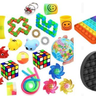 Favor 26st Fidget Set Pack för barn Pop it Stress ball