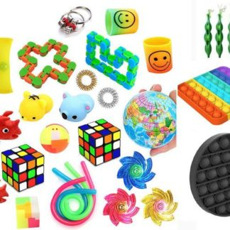 Favor 29st Fidget Set Pack för barn Pop it Stress ball