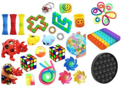 Favor 38st Fidget Set Pack för barn Pop it Stress ball
