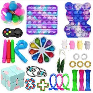 PRO 30 st. Fidget Pop it Toys Set pack för barn och vuxna