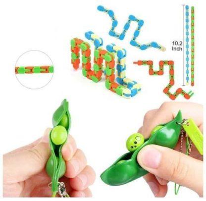 PRO Rainbow 30 st. Fidget Pop it Toys Set pack för barn och vuxna