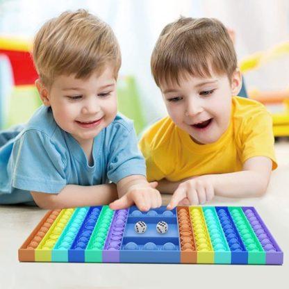 Pop it Spel Plop Up Fidget - stor fidget toys pop it leksak sensory rektangel
